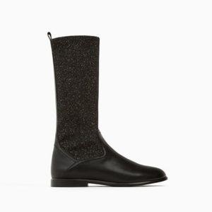 Zara Girls Fabric Boots